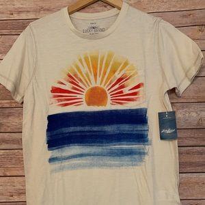 LUCKY Brand T-shirt with pocket & sun